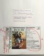 Bozzetto indicativo per la fotocomposizione, con i testi scritti a mano e foto e marchi appiccicati. Lieta poverizia '88. #LMT #linoeimistoterital #records #tape #theeighties #80s #bravimabasta #italianrock #audiocassette