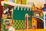 """La costruzione della copertina di """"Bravi Ma Basta"""", La parete di piazza Centesimo con le affissioni cinematografiche. #LMT #linoeimistoterital #records #vinyle #theeighties #80s #bravimabasta #italianrock"""