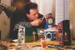 """Vinile e Vinavil: la costruzione della copertina di """"Bravi Ma Basta"""": un assurdo Philankone Gigante ne vende del suo. #LMT #linoeimistoterital #records #vinyle #theeighties #80s #bravimabasta #italianrock"""