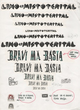 Indicazioni per la fotocomposizione, cover di Bravi Ma Basta, 1988 #LMT #linoeimistoterital #records #vinyle #theeighties #80s #bravimabasta #italianrock