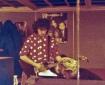 """Un gruppo di foto finora mai uscite dagli archivi dell'LMT Fancléb: ancora Ex-Caserme Rosse, dicembre 1990: Lauro registra la sua celebre """"chitarra fresa"""" con l'assistenza del produttore esecutivo David Qualcosadibiondo Bisetti. #LMT #linoeimistoterital #records #vinyle #theeighties #80s #altrinani #italianrock #Bologna #guitarsolo"""