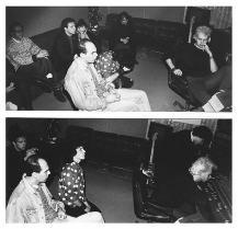 "Si registra, si riascolta, poi si riascolta, poi si riascolta, poi... Registrando ""Altri Nani"", SubCave Studios, Bologna, 1990."