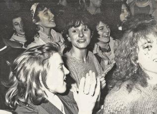 """""""Quadroimphamia"""": Lino e I Mistoterital ragazzi amModo! Pieve di Cento (Bo), 23 marzo 1985. — con Marzia Shetland, Rita Tonus, Nella Brett e Lou Smile"""