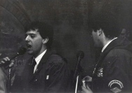"""Phil e Ted absoluti modali. """"Quadroimphamia"""": Lino e I Mistoterital ragazzi amModo! Pieve di Cento (Bo), 23 marzo 1985"""