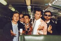 """Festa di presentazione per l'uscita di """"Bravi Ma Basta"""", deposito delle Locomotive FS, Bologna, 25/06/1988. Occasione per Grande Adunanza di amici del cuore, come gli indimenticabili Banaloidi. #LMT #iBanaloidi #Linoeimistoterital #BraviMaBasta #records #vinyle #Eighties #80s' #FS #trains #railways"""