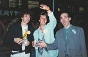 """Festa di presentazione per l'uscita di """"Bravi Ma Basta"""", deposito delle Locomotive FS, Bologna, 25/06/1988. Alcune amichissime della prima ora e della prima linea, hanno organizzato un ricco buffet in cui spicca la fantastica torta """"Bravi Ma Basta"""". Ancora oggi grazie, girlz! #LMT #iBanaloidi #Linoeimistoterital #BraviMaBasta #records #vinyle #Eighties #80s' #FS #trains #railways #cake BraviMaBasta #records #vinyle #Eighties #80s' #FS #trains #railways #cake"""