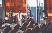 """Festa di presentazione per l'uscita di """"Bravi Ma Basta"""", deposito delle Locomotive FS, Bologna, 25/06/1988. Basta parlare, adesso suonare. #LMT #italianBand #Linoeimistoterital #BraviMaBasta #records #vinyle #Eighties #80s' #FS #trains #railways"""