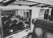 """Festa di presentazione per l'uscita di """"Bravi Ma Basta"""", deposito delle Locomotive FS, Bologna, 25/06/1988. Lo stage visto da un vagone. #LMT #Linoeimistoterital #BraviMaBasta #records #vinyle #Eighties #80s' #FS #trains #railways"""