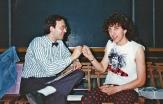"""Festa di presentazione per l'uscita di """"Bravi Ma Basta"""", deposito delle Locomotive FS, Bologna, 25/06/1988. Accordi bilaterali fra Tommy Fanzinato e Lauro O' Cardigan. #LMT #Linoeimistoterital #BraviMaBasta #records #vinyle #Eighties #80s' #FS #trains #railways"""