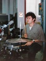 """Festa di presentazione per l'uscita di """"Bravi Ma Basta"""", deposito delle Locomotive FS, Bologna, 25/06/1988. Ted Nylon soundcecca come non ci fosse un narvalo. #LMT #Linoeimistoterital #BraviMaBasta #records #vinyle #Eighties #80s' #FS #trains #railways"""