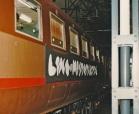 """Festa di presentazione per l'uscita di """"Bravi Ma Basta"""", deposito delle Locomotive FS, Bologna, 25/06/1988: il TrenoTerital! #LMT #iBanaloidi #Linoeimistoterital #BraviMaBasta #records #vinyle #Eighties #80s' #FS #trains #railways #cake"""