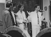 """Festa di presentazione per l'uscita di """"Bravi Ma Basta"""", deposito delle Locomotive FS, Bologna, 25/06/1988. Pipponcino inevitabile sul sofferto primo album della band; il produttore Tim Driver viene presentato alle folle. #LMT #Linoeimistoterital #BraviMaBasta #records #vinyle #Eighties #80s' #FS #trains #railways"""