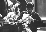 """Festa di presentazione per l'uscita di """"Bravi Ma Basta"""", deposito delle Locomotive FS, Bologna, 25/06/1988. La stampa ribatte colpo su colpo. #LMT #Linoeimistoterital #BraviMaBasta #records #vinyle #Eighties #80s' #FS #trains #railways"""